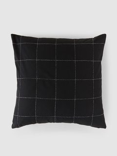 Anchal Project Organic Cotton Grid Throw Pillow Cover
