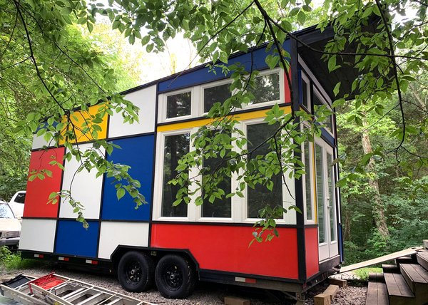 Snag This Marvelous Mondrian-Inspired Tiny House for $40K
