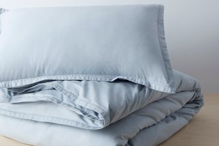 Quần áo hữu cơ Allswell Giặt Percale Duvet Set