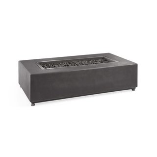 Arhaus Grey Rectangle Outdoor Concrete Fire Table