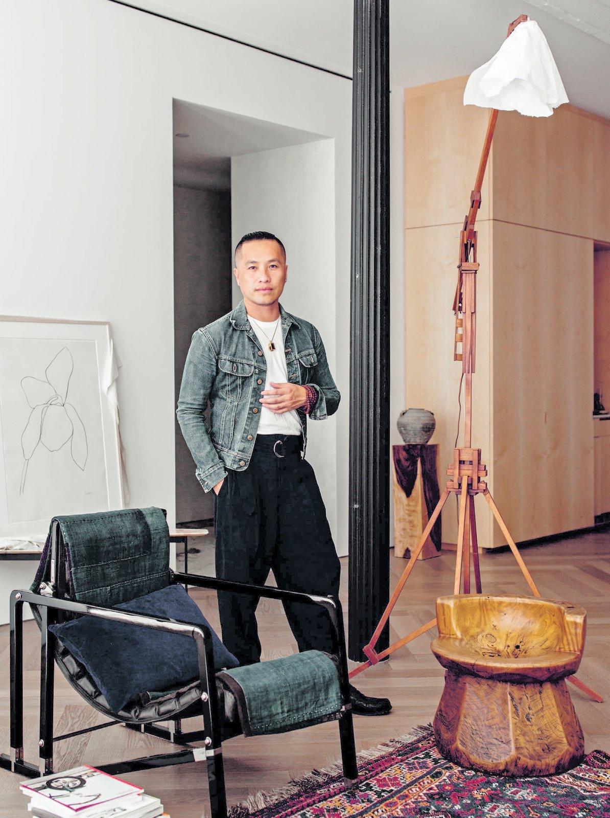 Philip Lim in his NYC loft