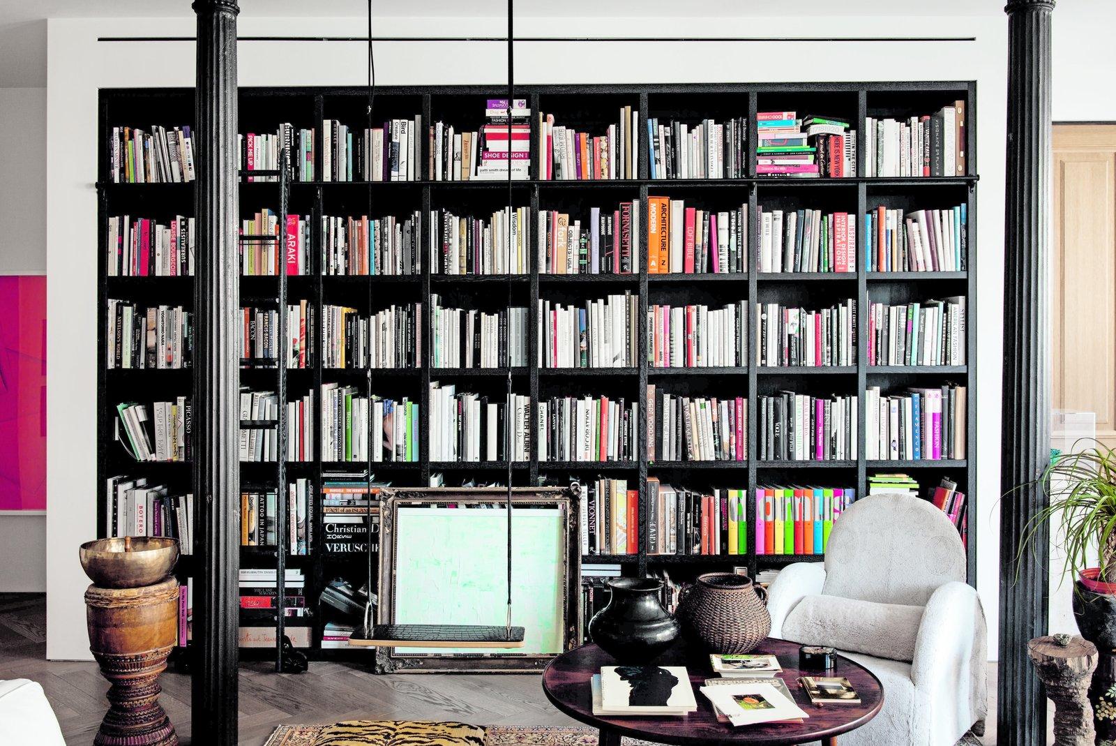 Philip Lim NYC loft floor-to-ceiling bookcase