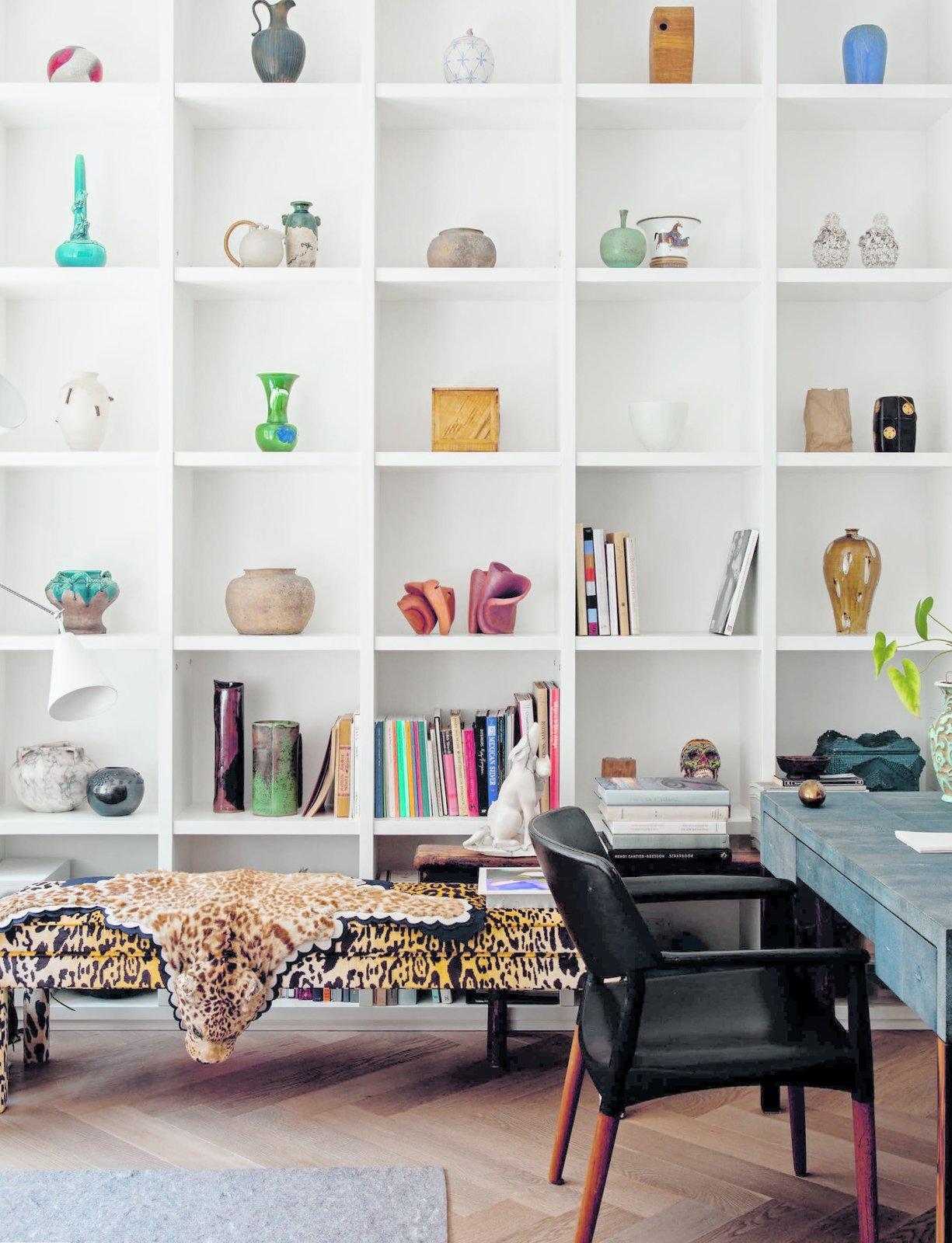 Philip Lim NYC loft bookshelves