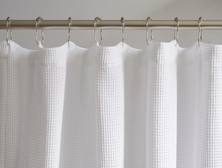 Coyuchi Organic Waffle Shower Curtain