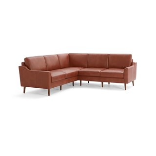 Burrow Nomad Leather 5-Seat Corner Sectional