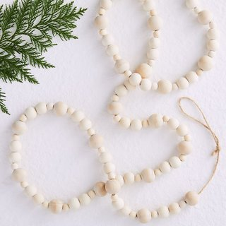 West Elm Wooden Ball Garland