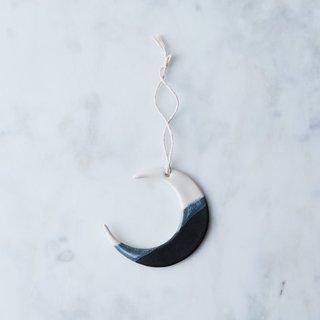 Handmade Studio TN Double-Dip Ceramic Moon Ornament