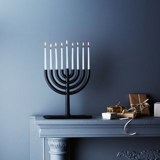 Areaware Blackened Cast Iron Menorah