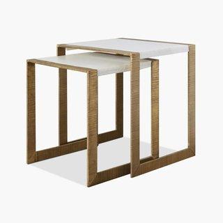 Ben Soleimani Hawthorn Brass Nesting Table
