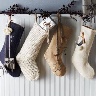 Celina Mancurti Handmade Linen Stocking With Monogram Option
