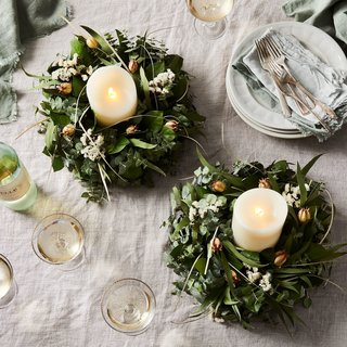 Creekside Farms Fragrant Pod Wreath Centerpiece Table Wreaths (Set of 2)