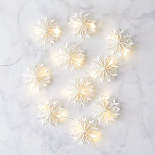 Cody Foster Winter Snowflake Paper String Light and Ornaments