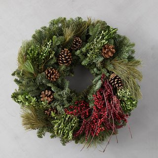Terrain Fresh Mixed Greens Wreath