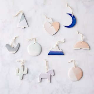 Hereafter Hand-Dipped Ceramic Ornaments