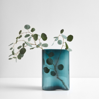 """Mist Petroleum Vase 11.5"""""""