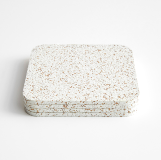 Cork White Coasters Set of Four