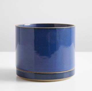 Hasami Gloss Blue Large Planter and Saucer Set