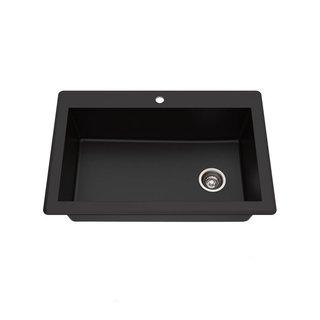 """Kraus Forteza 33"""" Drop-In/Undermount Granite Single Bowl Kitchen Sink"""