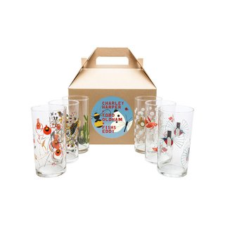 Fishs Eddy x Todd Oldham Boxed Set of 6 Glasses