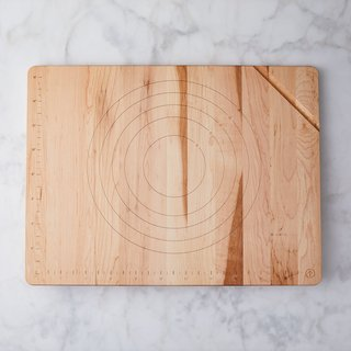 JK Adams Baking Board With Rolling Pin Holder
