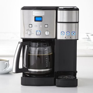 Cuisinart Coffee Center and Single-Serve Brewer With Glass Carafe