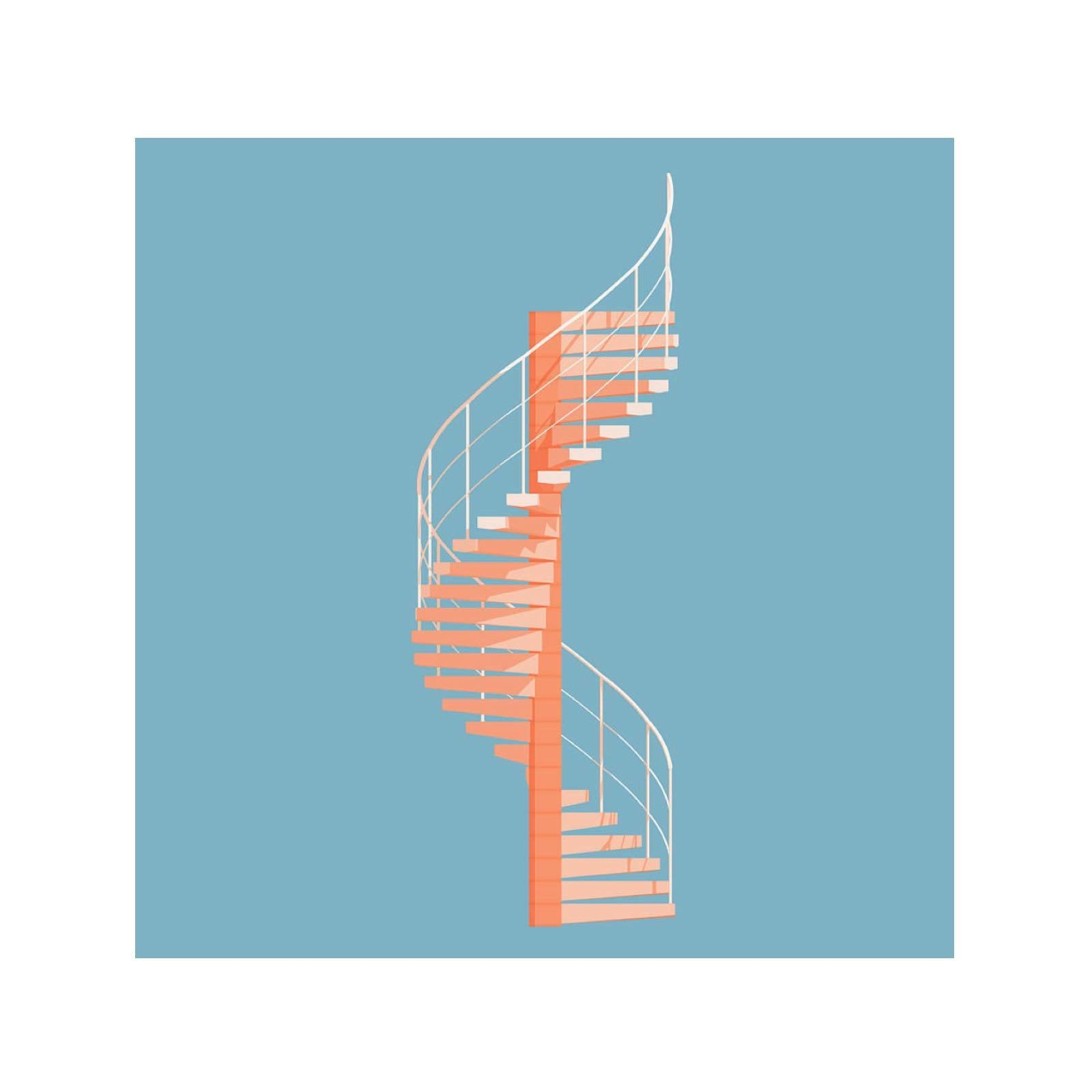 Helical Stairs by Peter Cassidy Art Print