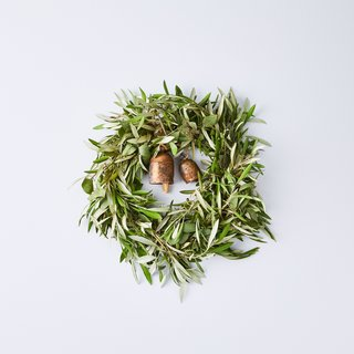 Creekside Farms Vintage Bell Olive and Eucalyptus Wreath