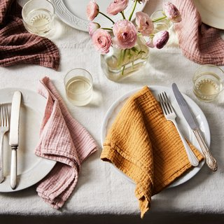 Borrowed Blu Cotton Crinkle Napkins (Set of 6)