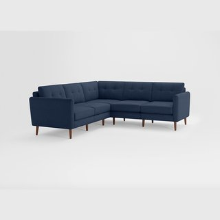 Burrow Nomad 5 Navy Blue Seat Corner Sectional