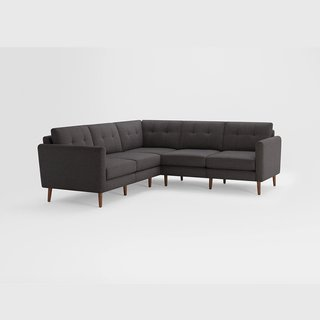 Burrow Nomad Charcoal 5-Seat Corner Sectional