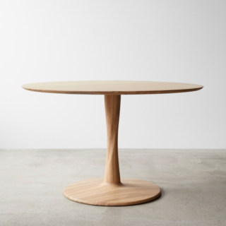Euclid Natural Round Dining Table 50""