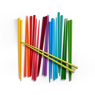 MoMA Design Store Set of 12 Rainbow Chopsticks