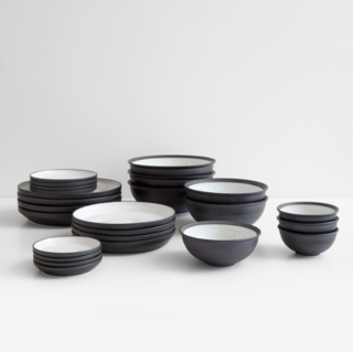 Rim Black Dinnerware Collection