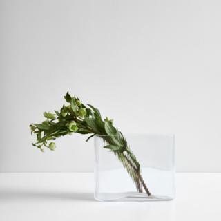 "Mist Clear Vase 8.25"""