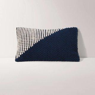 Burrow Navy Diagonal Pillow Cover