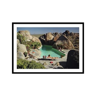 Sunbathing in Arizona by Slim Aarons Art Print