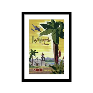 Los Angeles Fly TWA 1950 by Daniel Hagerman Art Print