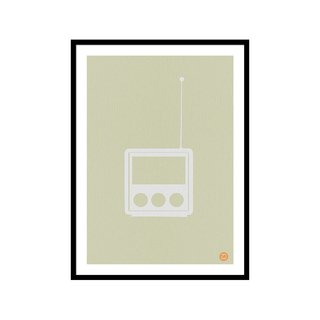 Little Radio NaxArt Studio Art Print