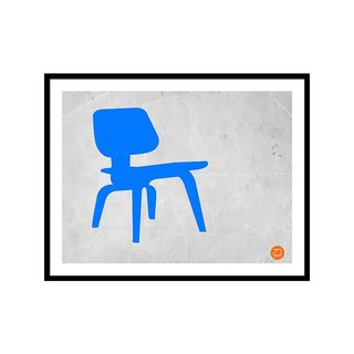 Eames Blue Chair by NaxArt Studio Art Print