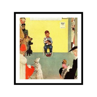 At the Vets by Norman Rockwell Art Print