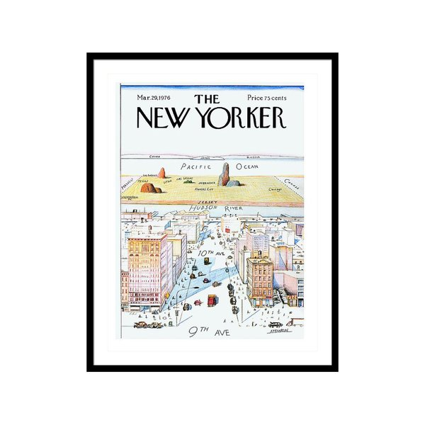 New Yorker March 29, 1976 Saul Steinberg Art Print
