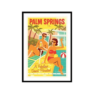 Palm Springs Poster Retro Travel by Jim Zahniser Wall Art