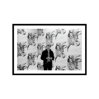 Andy Warhol and Cows by Fred W McDarrah Art Print