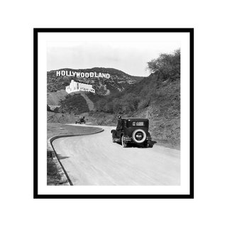 Hollywoodland by  Underwood Archives Art Print