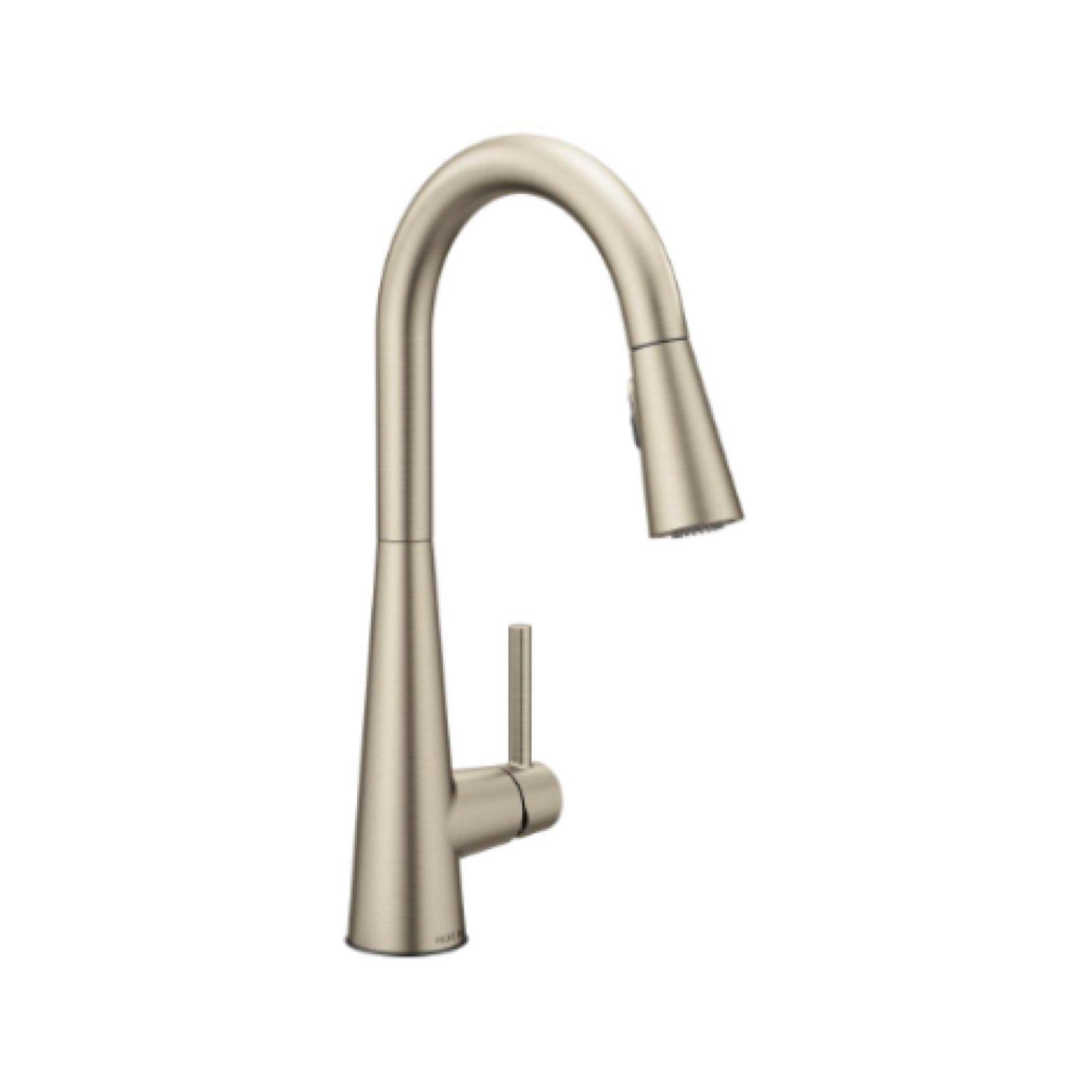 Moen Sleek Single Handle Pull-Down Kitchen Faucet by Hausera ...