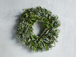 Arhaus Fresh Mixed Eucalyptus Wreath