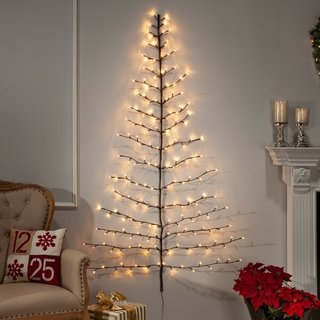6' Wall-Mount Christmas Tree