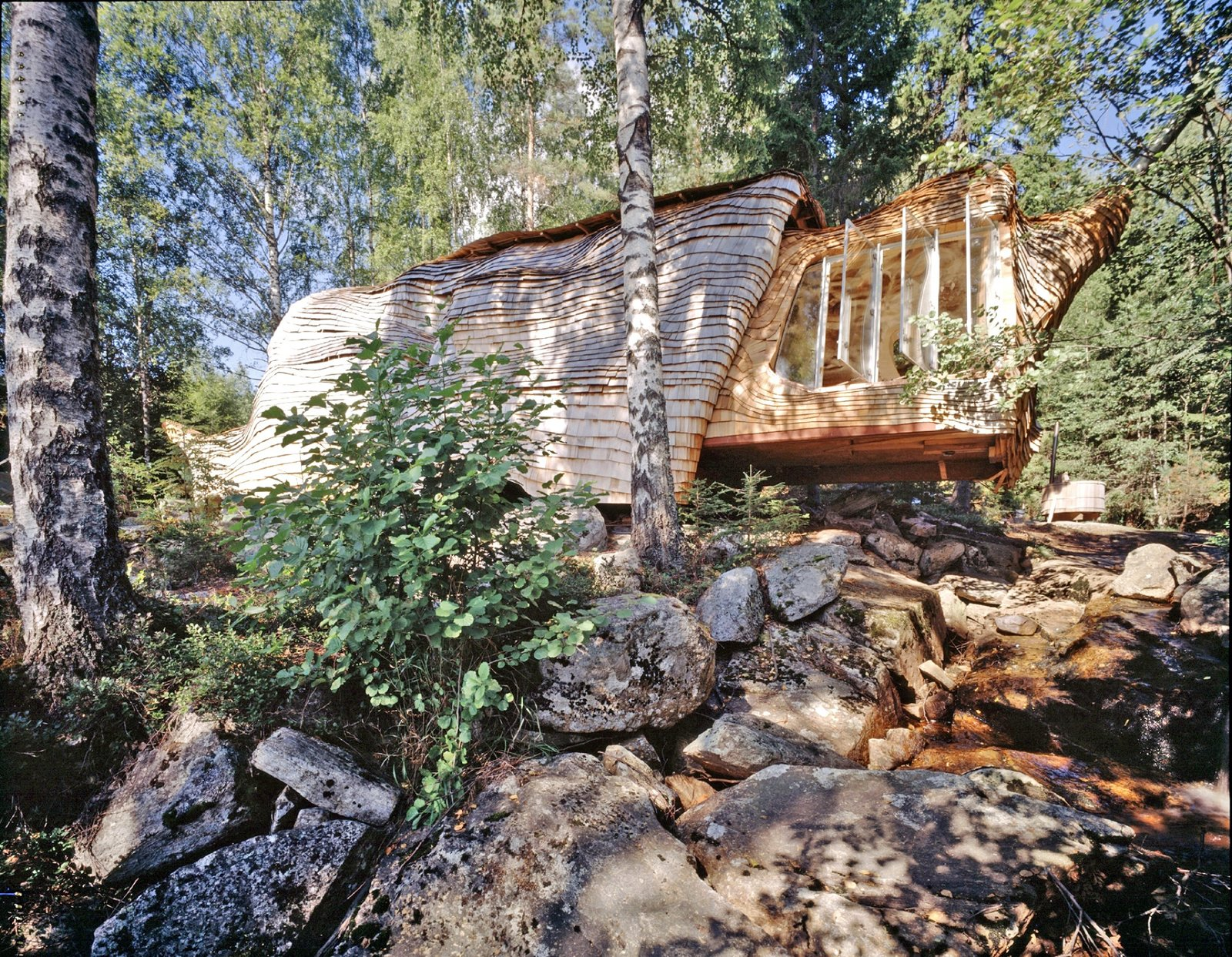 Photo 1 of 11 in Sweden's Ultra-Instagrammable Accordion House Just Hit the Market for $210K