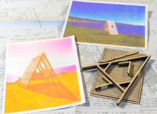 Build a Breezy A-Frame Shelter With These DIY Kits by Artist Jay Nelson