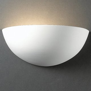 Justice Design Group Quarter Sphere Wall Sconce